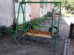 Качели металлические, качели для сада