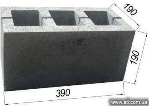 Качественный шлакоблок в Одессе 39х19х19 от производителя
