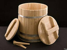 Кадка дубовая для солений - 10 литров