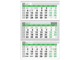 Календарная сетка зеленая. Квартальный, бухгалтерский. ..