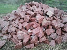 Камень бутовый красный купить. Фото.Цена