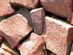 """Камень для банных печей малиновый кварцит (колотый) ТМ """"Бань"""