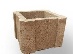 Камень для столба (шлакоблок) с размерами 300х300х160