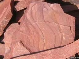 Камень песчаник красный обожженный термообработанный