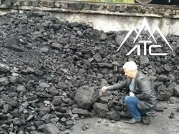 Каменный уголь марки Д 0-300 мм (90% куска)
