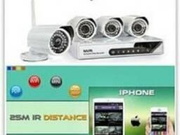 Камеры видеонаблюдения с 4-мя беспроводными камерами 6004 wi