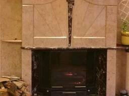 Камин из мрамора портал каминный мраморный камин - фото 4