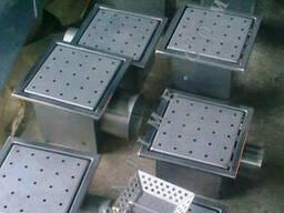 Канализационный трап 235*235 из нержавеющей стали с. .. - фото 1