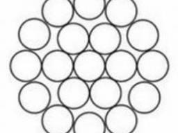 Канат стальний 1х19 ф 1, 0-19, 0 ГОСТ 3063-80