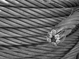 Канат стальной с орг. сердечником 11 мм (свивка 6х19)