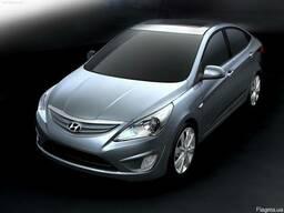 Капот решетка крыло фонарь фара бампер на Hyundai Accent