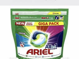 Капсулы для стирки Ariel Ариель Pods Color & Style 74 шт