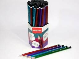 Карандаш простой графитный Nataraj Metallic HB 4 цвета