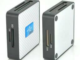 Кардридер универсальный USB 3. 0 HDH-939 SD/ MMC / MS /TF/M2, USB2. 0, White, Блистер