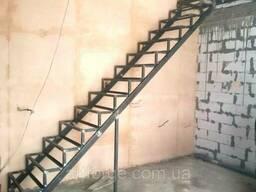 Каркас лестницы под обшивку - прямой марш