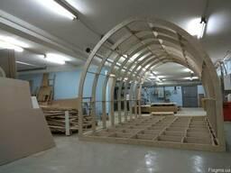 Каркас быстровозводимого арочного дома 3х6х2,9 м