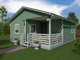 Каркасный дачный дом 6,0 x 7,0 м