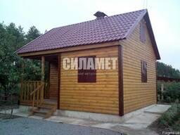 Каркасный домик деревянный дачный