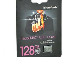 Карта памяти Microflash Micro SD, cкорость передачи данных 70MB/s, class10, 128G