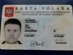 Карта поляка нова реєстрація Вінниця / шпаргалка до консула
