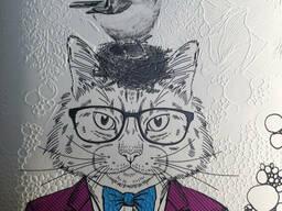 Картина холст печать рисунок печать по номерам №12 панно дизайнерское Чеширский Кот в. ..