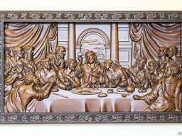 Картина из благородных сортов древесины «Тайная вечеря»