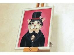 Картина маслом Викторианский Кот