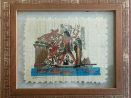 Картина Папирус в деревянной раме 38*32 см.