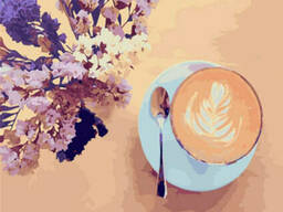"Картина по номерам. Brushme ""Лавандовый кофе"" (GX22206)"