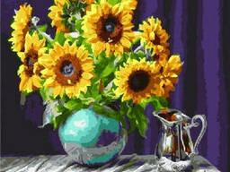 "Картина по номерам. Brushme ""Подсолнухи в вазе"" GX5846"