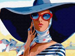 "Картина по номерам. Brushme ""В широкополой шляпе"" (GX29721)"