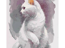 """Картина по номерам """"Хрупкий кот"""" 40*50см KHO4181"""