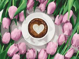 """Картина по номерам. Идейка """"Кофе для любимой"""" 40*40см. .."""
