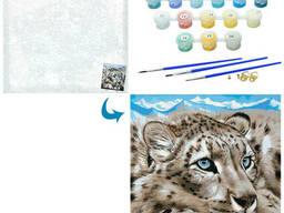 Картина по номерам леопард MK 4650-1