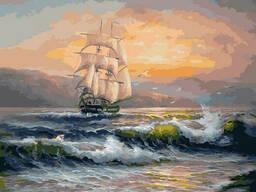 "Картина по номерам. Rainbow Art ""Корабль на волнах"". .."