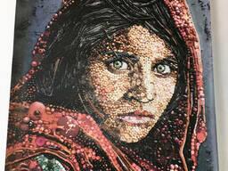 Картины на холсте печать портрет панно дизайнерское Афганская Мона Лиза Шарбат Гула 70. ..