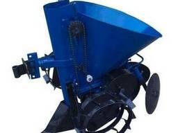 Картофелесажатель мотоблочный К-1Л (синий) с транспортировоч