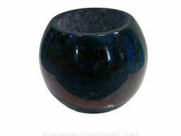 Кашпо для цветов из натурального камня (лабрадорита)