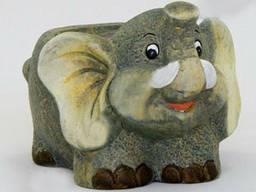 Кашпо керамическое для цветов Слон