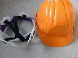 Каска строительная оранжевая красная