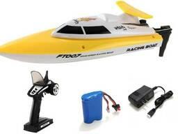 Катер Fei Lun FT007 Racing Boat, на радиоуправлении 2,4GHz, желтый SKL17-139892
