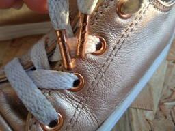 Кеды Converse натур кожа оригинал 25 размер-15 см
