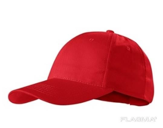 Кепка-бейсболка красная 100% хб пл. 120