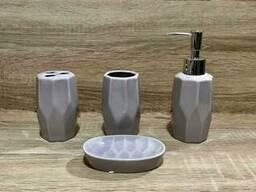 Керамический набор для ванной комнаты, пудра