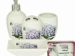 """Керамический набор для ванной комнаты """"Сирень"""""""