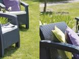 Keter Corfu Duo Set мебель из искусственного ротанга - фото 6