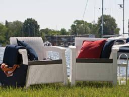 Keter Corfu Duo Set мебель из искусственного ротанга - фото 7