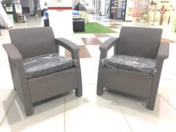 Keter Corfu Duo Set мебель из искусственного ротанга - фото 8