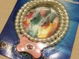 Киев. Ошейник ожерелье из жемчуга для животных (светящийся)