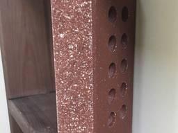 Кирпич облицовочный пустотелый Эко-Брик с фаской бордо